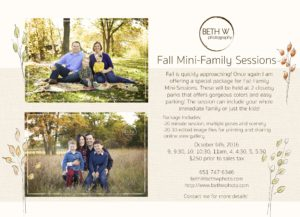 Now Booking Fall Mini-Family Sessions