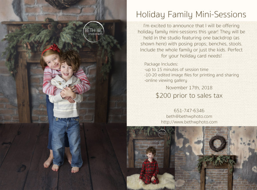 Holiday Family Mini Sessions